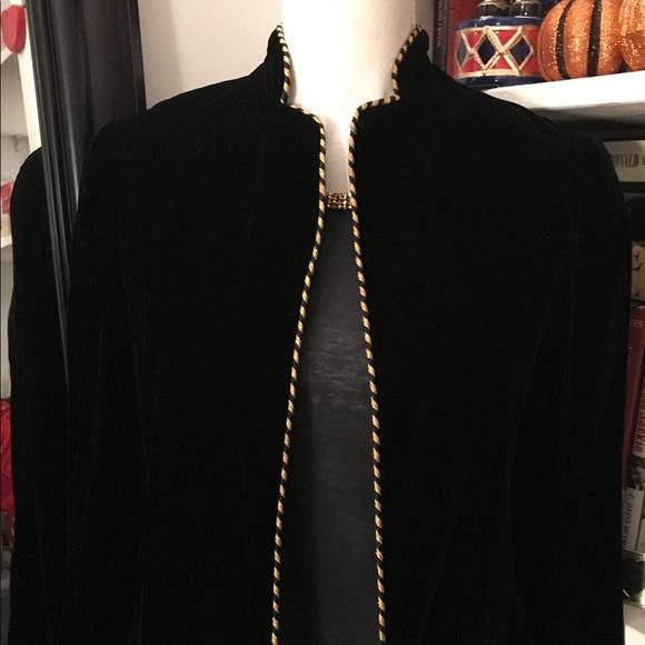 Neiman Marcus Black Velvet Jacket
